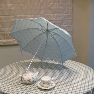 White Lace Parasol - UV block umbrella